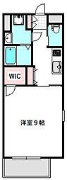 京阪本線 滝井駅 徒歩1分の賃貸マンション 7階1Kの間取り