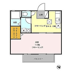 メイプルハウス C[1階]の間取り