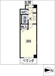 ハイツクオーレ[3階]の間取り