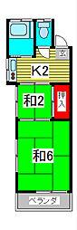 田中コーポ[2階]の間取り