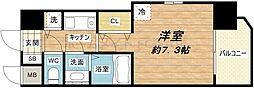 エイペックス心斎橋東[8階]の間取り