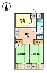 愛知県名古屋市名東区猪子石原3丁目の賃貸マンションの間取り