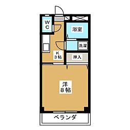 カレッジハウス A[1階]の間取り