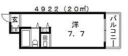 朝日プラザ天王寺西パサージュ[3階]の間取り
