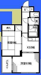 神奈川県大和市深見東1の賃貸マンションの間取り
