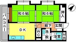 青柳21[4階]の間取り