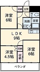 愛知県安城市弁天町の賃貸マンションの間取り