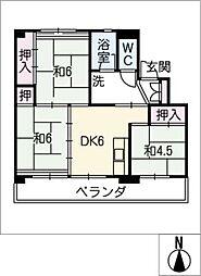 ビレッジハウス北口 1号棟[2階]の間取り