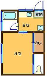 第5高尾荘[201号室]の間取り