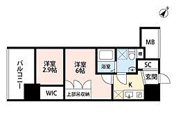 セレニテ福島scelto(シェルト)[6階]の間取り