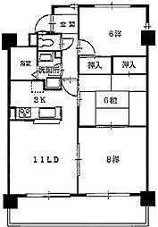 ダ・カーポ祇園[501号室]の間取り