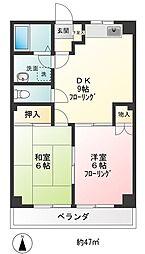 サカイハイツII[207号室]の間取り