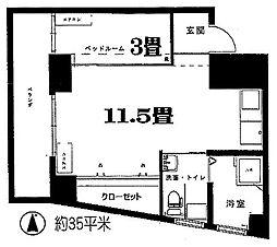 第二メゾン北梅田[4階]の間取り