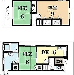 [一戸建] 京都府城陽市久世里ノ西 の賃貸【/】の間取り