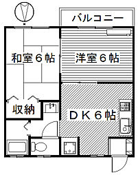 サンガーデンオキナC[2階]の間取り