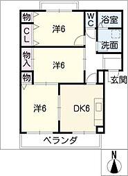 スカイハイツ藤橋[3階]の間取り