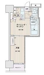 東京都墨田区江東橋3丁目の賃貸マンションの間取り