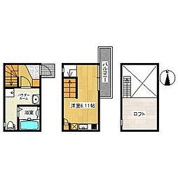 愛知県名古屋市南区元柴田東町1丁目の賃貸アパートの間取り