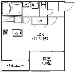 FUJISTA所沢VII[105号室号室]の間取り