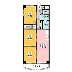 シェレナハイツ[4階]の間取り