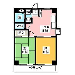 メゾン柏井[2階]の間取り