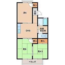 和歌山県和歌山市弘西の賃貸アパートの間取り