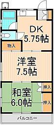 シャトー山崎[201号室]の間取り