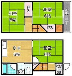 [一戸建] 大阪府枚方市長尾家具町2丁目 の賃貸【/】の間取り
