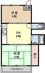 コーポ泉山[302号室号室]の間取り