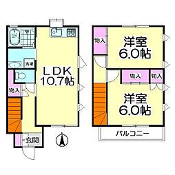 [テラスハウス] 東京都足立区東伊興1丁目 の賃貸【/】の間取り