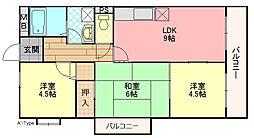 カーサフィオーレ弐番館[4階]の間取り