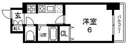 エスリード深江橋[609号室号室]の間取り