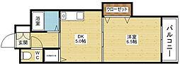 ノルデンハイム東三国[4階]の間取り