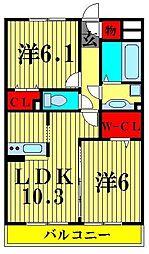 レガロ新宿[1階]の間取り