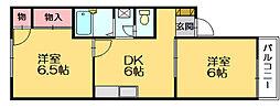 リバティハウス D[1階]の間取り