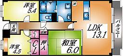 兵庫県神戸市東灘区本庄町1丁目の賃貸マンションの間取り