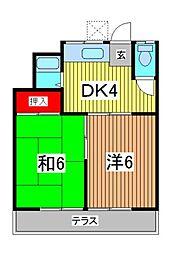 コーポ柳崎[2階]の間取り