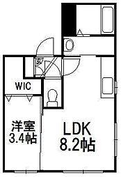 北海道札幌市中央区北四条西21丁目の賃貸マンションの間取り
