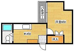 西平塚ビル[403号室]の間取り