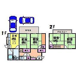 [一戸建] 愛媛県松山市久保田町 の賃貸【/】の間取り