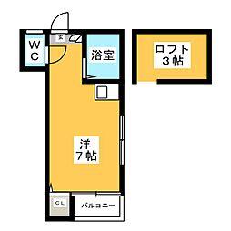 メゾン筥松[1階]の間取り
