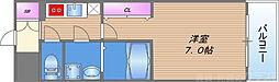 エスプレイス大阪城サウスコンフォート 11階1Kの間取り