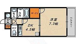 クレアート大阪EAST G4 5階1DKの間取り