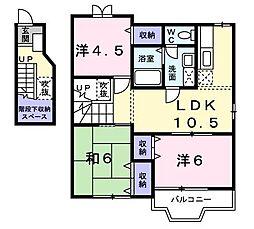 ホワイトハウス南泉A[2階]の間取り