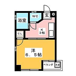 シャトー山田[4階]の間取り