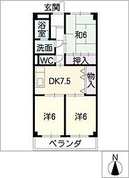 エクセル島崎[2階]の間取り
