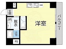 JO-KITA TERRACE 5階ワンルームの間取り