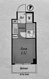 スカイコート横浜西口[805号室]の間取り
