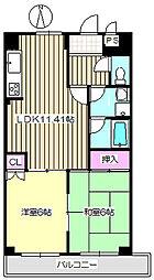 グレースコート尼崎 102[1階]の間取り