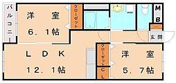 アンフェニ[2階]の間取り